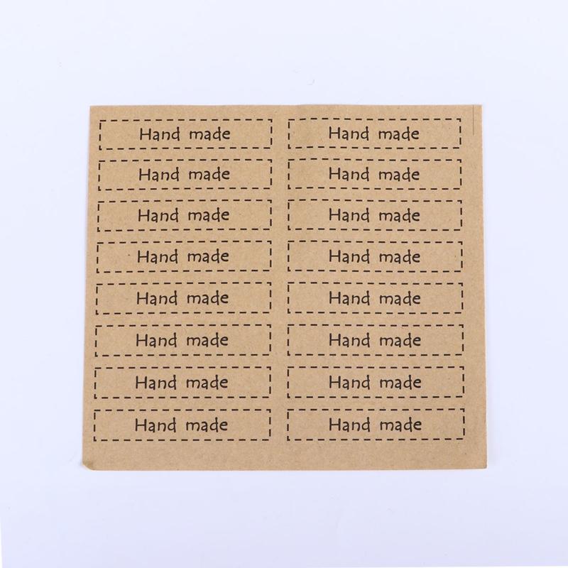 VOORDEELVERPAKKING 30 Stickervellen Handmade Licht bruin