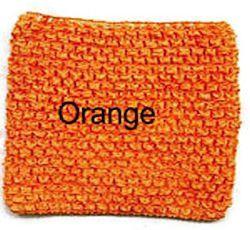 Gehaakte Top Orange  S  (maat 50 t/m 80)
