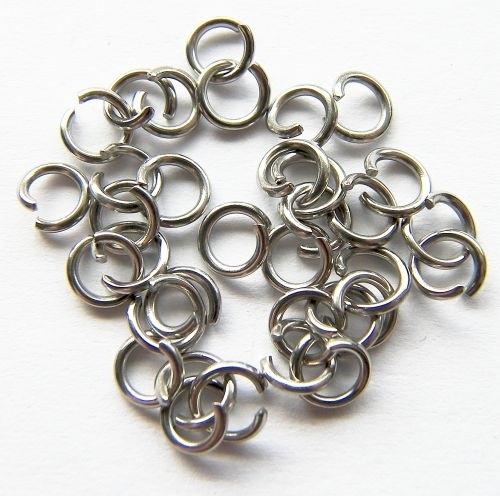 VOORDEELVERPAKKING 200 stuks Jump ring Silver Tone RVS 9mm