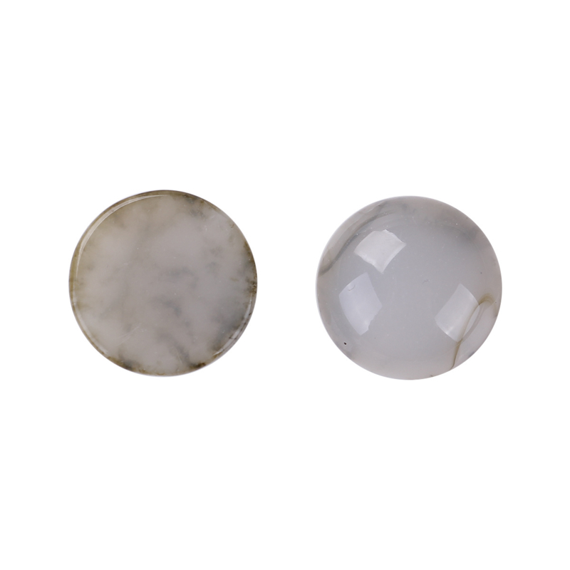 Resin Cabochon Rond, French Grey Inkspot 18mm