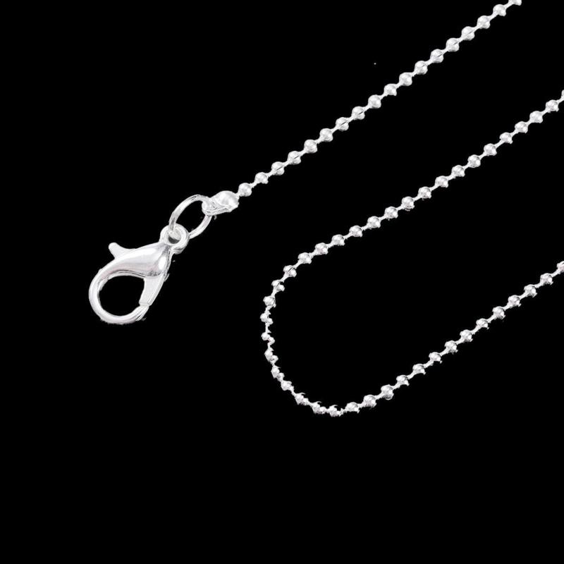 VOORDEELVERPAKKING 12 stuks Ballchain ketting 1.5mm zilverkleur met slotje