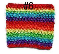 Gehaakte Top #6 Rainbow M  (maat 86 t/m 116)