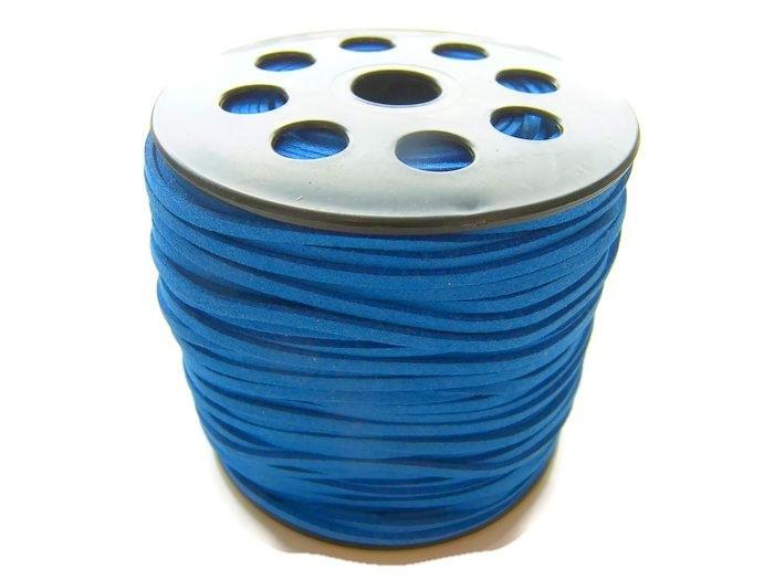 Faux Suede Cobalt Blauw 3mm