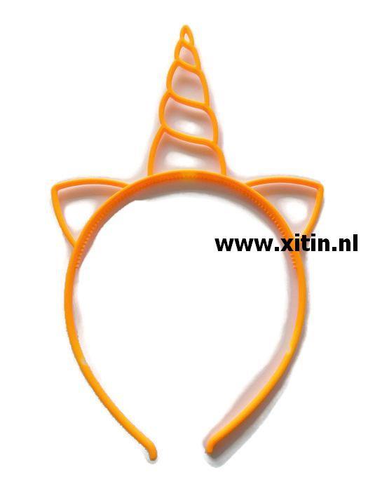 Haarbeugel Eenhoorn Licht Oranje