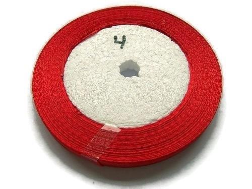 No.4 Rood Satijnlint 6mm (per rol)