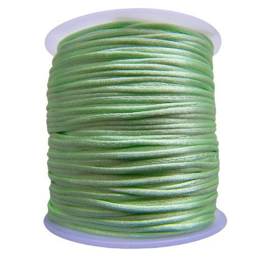 Satijnkoord Mint Groen 1mm dik