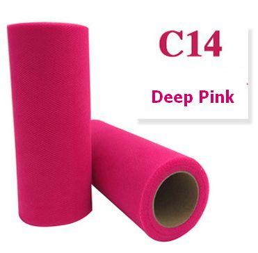 Tule Deep Pink 15cm breed  rol 22 meter C14