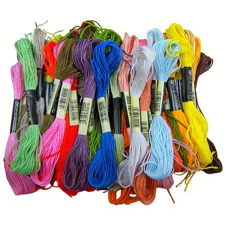 Pakket met 50 Flosjes Borduurgaren in diverse kleuren