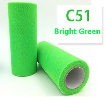 Tule Bright Green 15cm breed  rol 22 meter C51