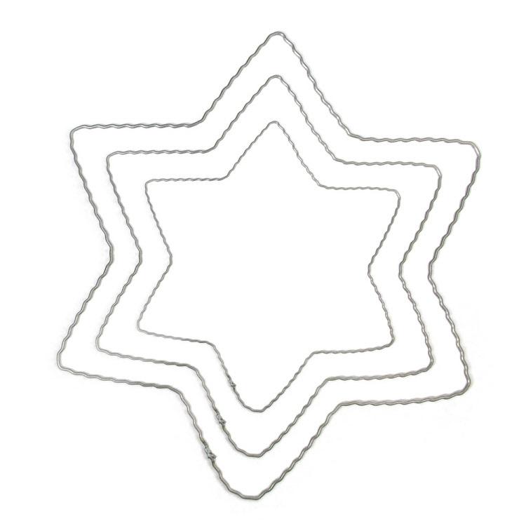 Ring  metalen Ster 15 cm diameter
