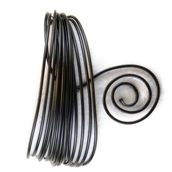 AluDeco Wire 2mm Black Round (5m)