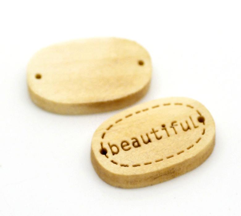 Houten Label / Connector Beautiful