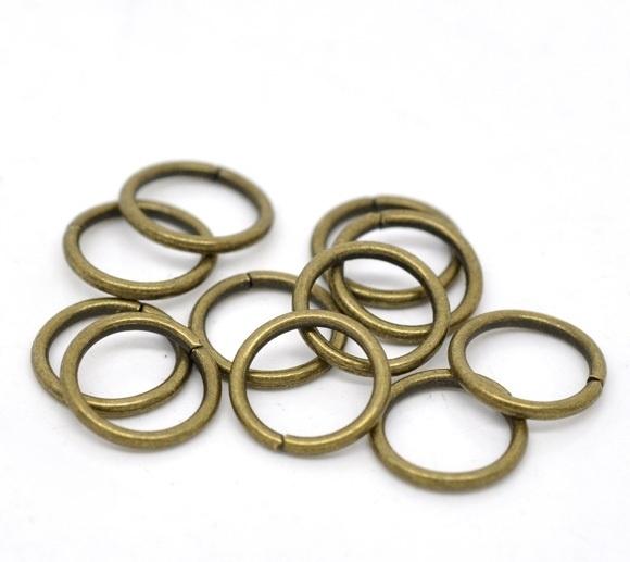 Jump ring bronskleur 6mm