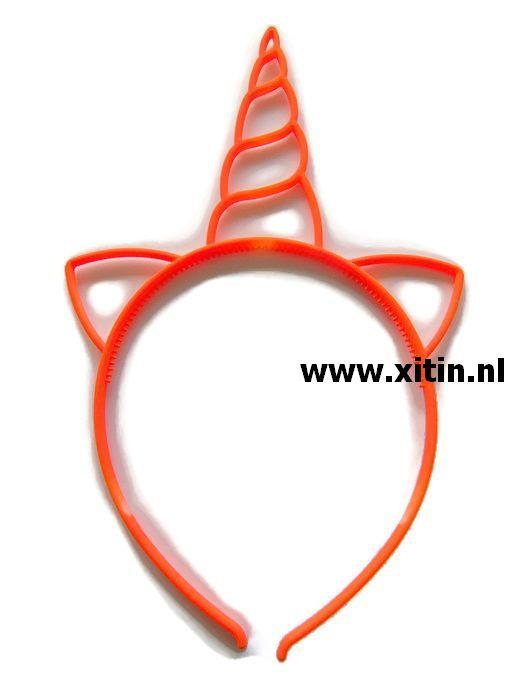 Haarbeugel Eenhoorn Oranje