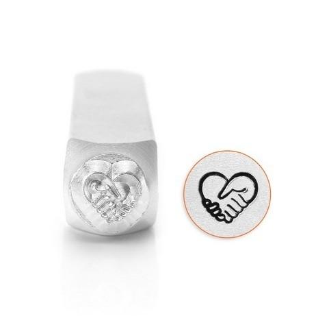 Design Stempel Heart Hands 6mm ImpressArt