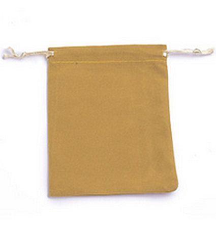 VOORDEELVERPAKKING 20 stuks Geschenkzakje van Velours  Goldenrod 9x7cm