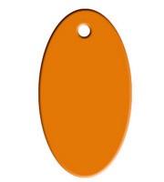 VOORDEELVERPAKKING 15 stuks Tag Ovaal Oranje Groot aluminium