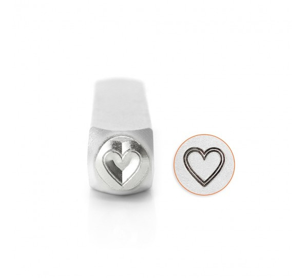 Design stempel Outlined Heart 6mm ImpressArt