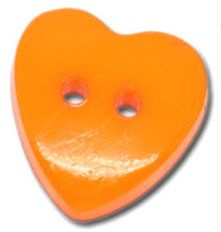 Knoop Acryl Hart Oranje