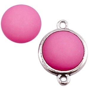 Cabochon Polaris matt 15 mm Rose