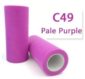 Tule Pale Purple 15cm breed  rol 22 meter C49