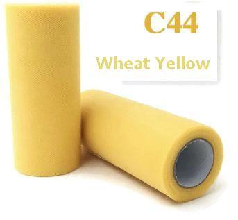 Tule Wheat Yellow 15cm breed  rol 22 meter C44