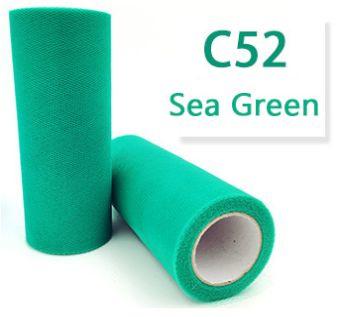Tule Sea Green 15cm breed  rol 22 meter C52