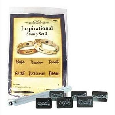Inspirational Leder Stamp Set 6 woorden
