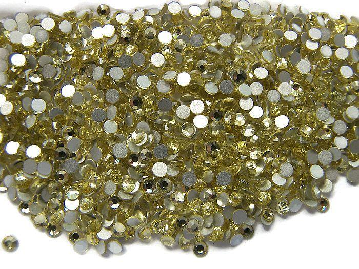 Rhinestone Flatback  SS12 Golden Yellow 3mm