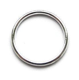 Ring 2.4 cm diameter Zilverkleur