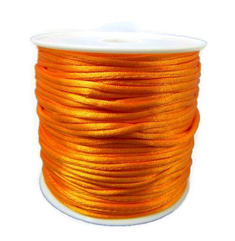 Voordeelverpakking rol van 15 meter Satijnkoord Oranje 1,5mm