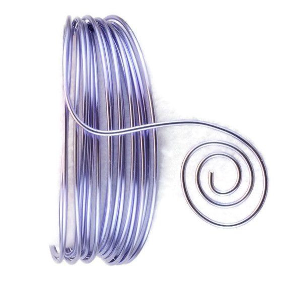 AluDeco Wire 2mm Soft Lilac Round (5m)