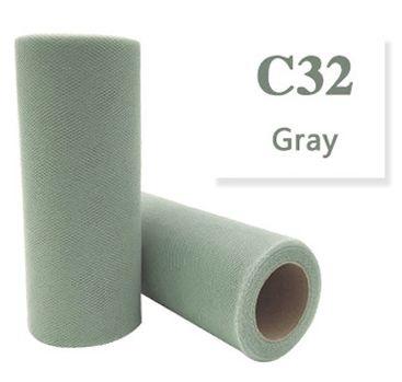 Tule Gray 15cm breed  rol 22 meter C32