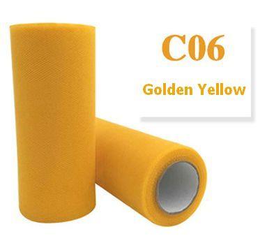 Tule Golden Yellow 15cm breed  rol 22 meter C06