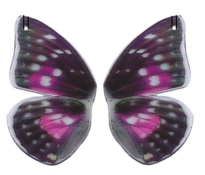 Resin Butterfly Wings Paars (2st)