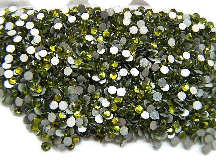 Rhinestone Flatback  SS12 Olive 3mm
