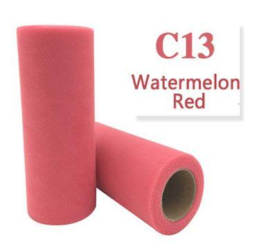 Tule Watermelon Red 15cm breed  rol 22 meter C13