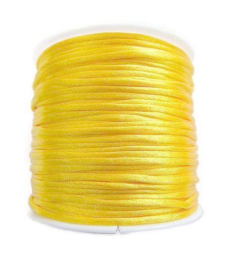 Satijnkoord Geel 1mm dik