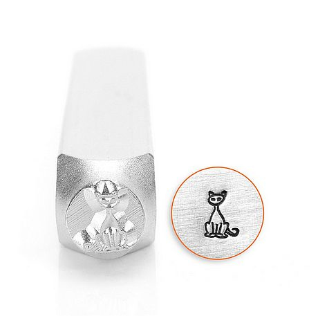 Design stempel Sitting Cat 6mm ImpressArt