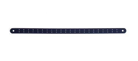 Lederen Borduur Armband zwart 7mm smal