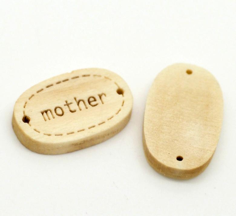 Houten Label / Connector Mother