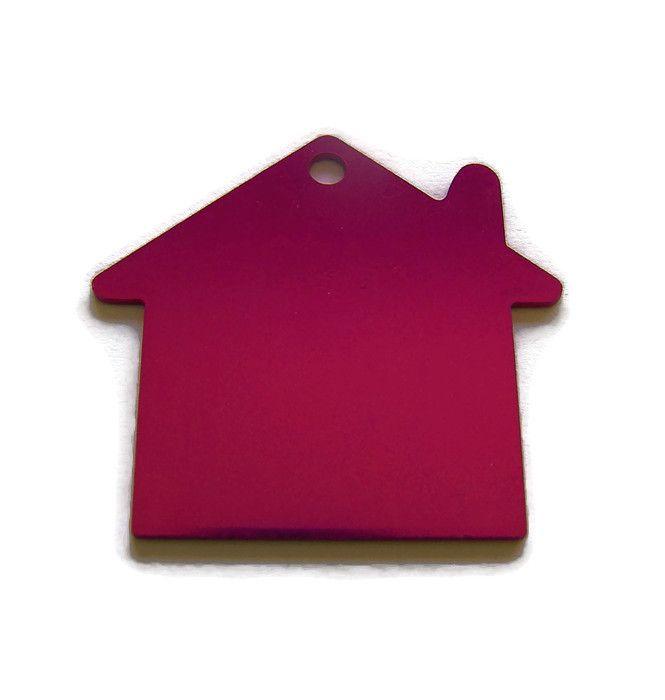 VOORDEELVERPAKKING 15 stuks Tag Huisje Groot Fuchsia Roze aluminium
