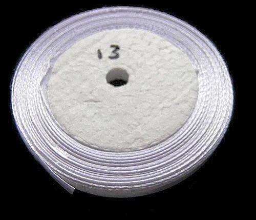 No.13 Wit Satijnlint 6mm (per rol)