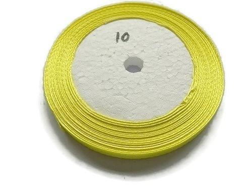 No.10 Geel Satijnlint 6mm (per rol)