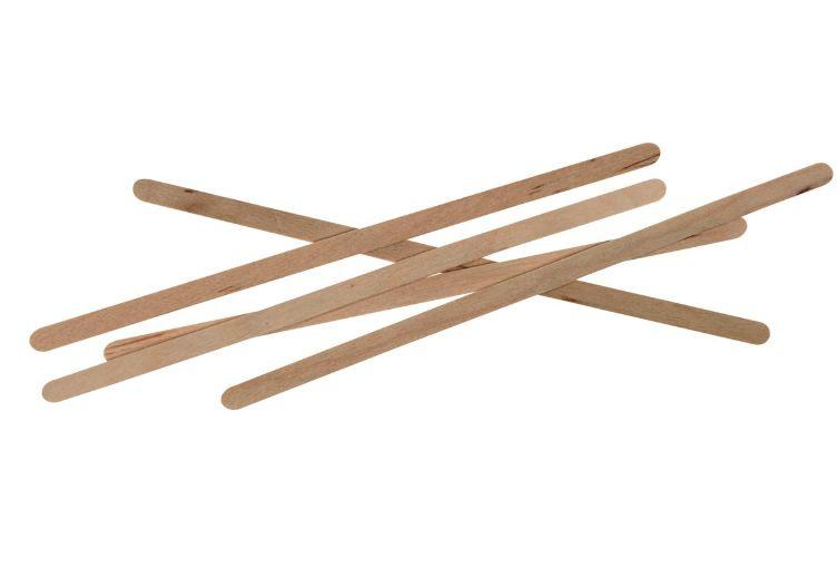 Losse houten roerstaafjes set van 10 stuks