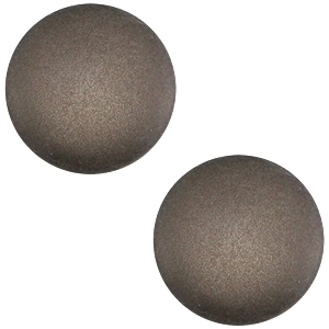 Cabochon polaris soft tone matt 20mm Silver night