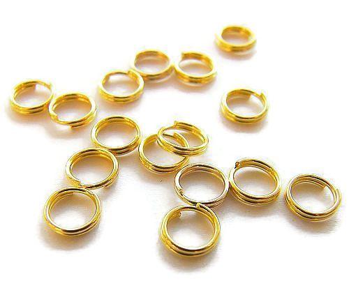 Split ring Goldplated 6mm