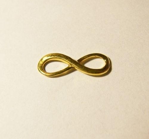 Connector Infinity 23x8mm goudkleur