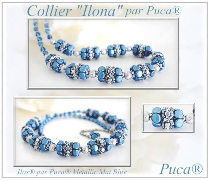 """Gratis """"Collier Ilona"""" Patroon bij aankoop van 2 zakjes PAR PUCA® kralen"""