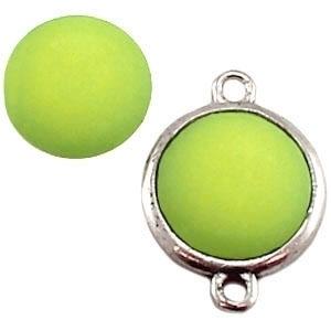 Cabochon Polaris matt 20 mm Peridot green